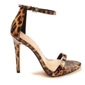 ALDO Leopard Print High Heels Sleek Sandal